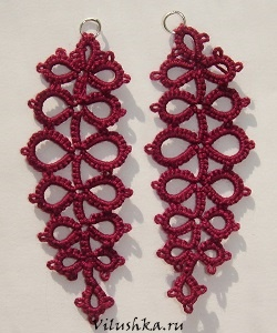 tatted earrings free pattern